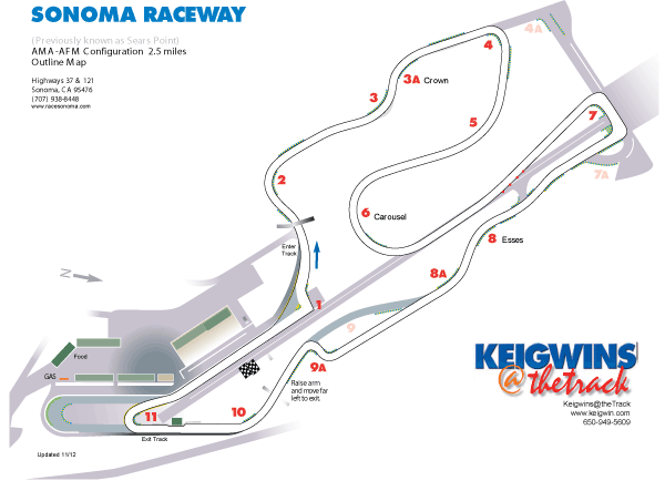 Keigwins Thetrack Tracks Infineon Raceway